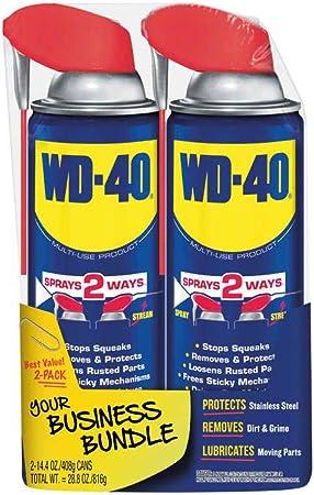 WD-40 producto multiuso con spray de correa inteligente de 2 vías, 14.4 onzas [2 unidades]: Amazon.es: Bricolaje y herramientas
