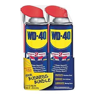 WD-40 Multi-Use Product with SMART STRAWSPRAYS 2 WAYS, 14.4 OZ [2-Pack]
