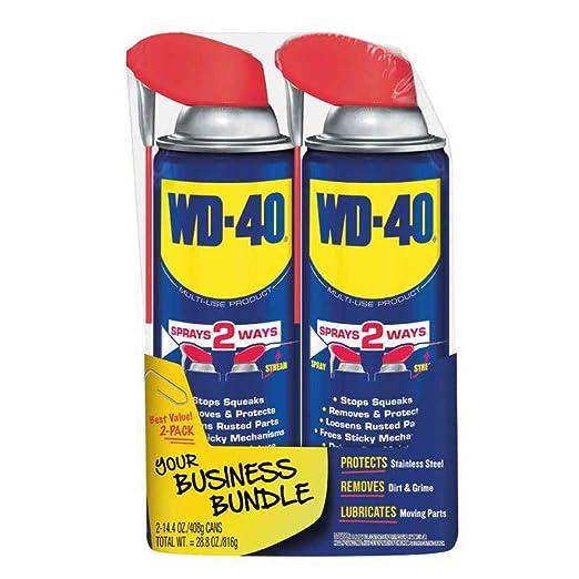 WD-40 - 490224 Multi-Use Product with SMART STRAW SPRAYS 2 WAYS, 14.4 OZ [2-Pack]: Amazon.com: Industrial & Scientific