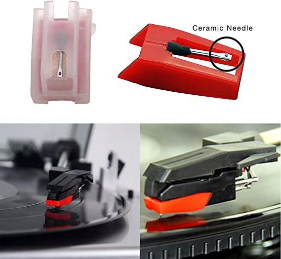 banpa Pack of 2 Turntable Replacement needle with Ceramic Tip for ION iCT09RS Quick Play LP, Power Play LP, Quick Play Flash, Contour LP, Vertical ...