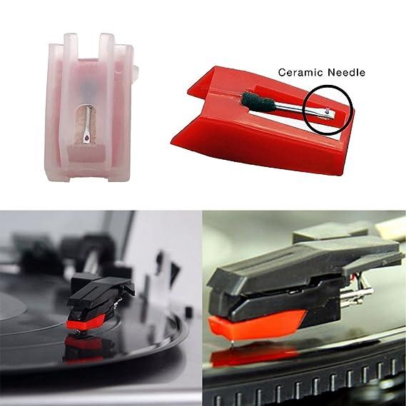 banpa 2 Pack Sonido de aguja para tocadiscos Ion ICT09RS ...