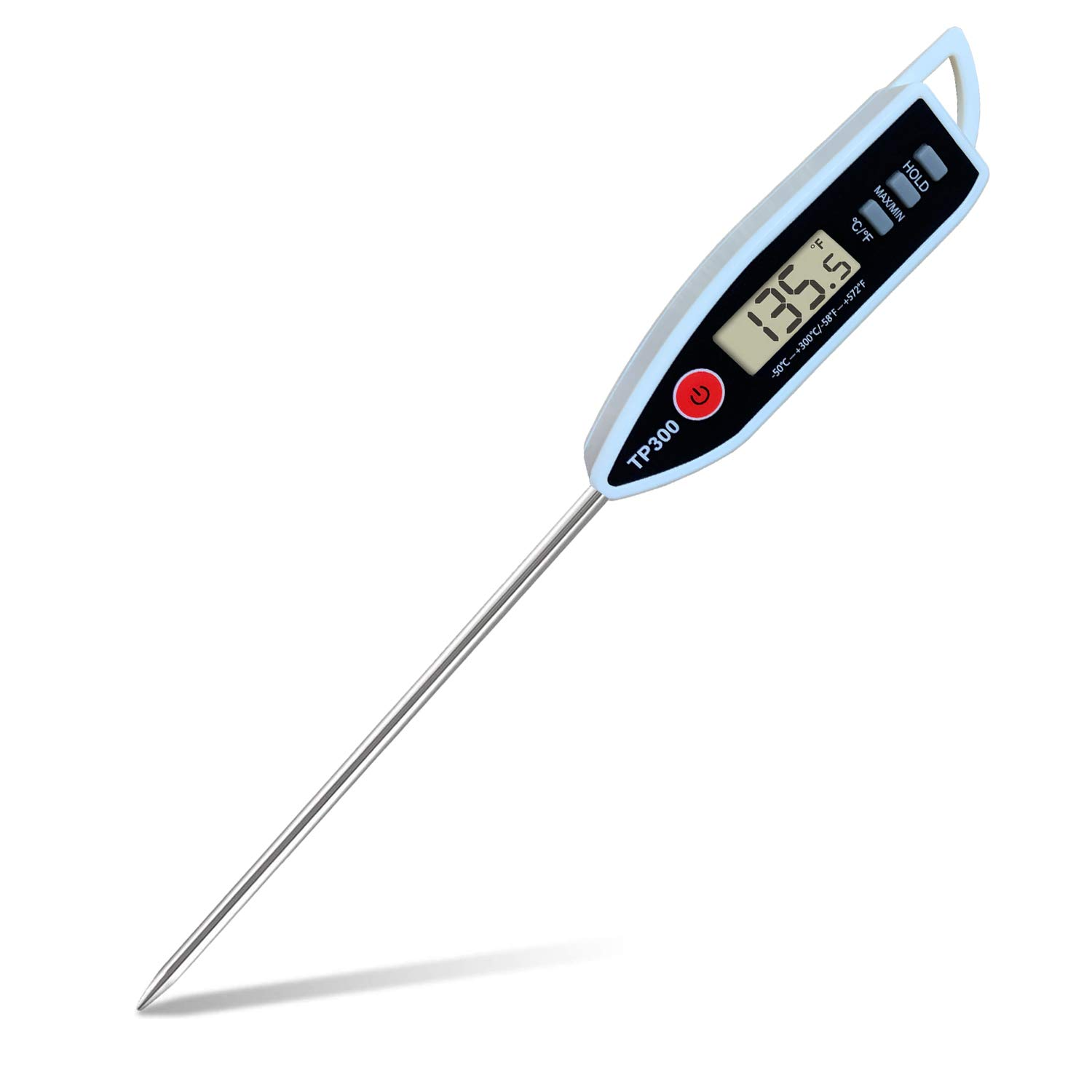 Meat Food Thermometer, Digital Candy Candle Thermometer, Cooking Kitchen BBQ Grill Thermometer, Probe Instant Read Thermometer for Liquids Pork Milk Deep Fry Roast Baking Candle Temperature