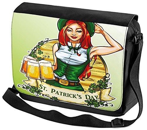 Umhänge Schulter Tasche Welt Reise St. Patricks Day bedruckt