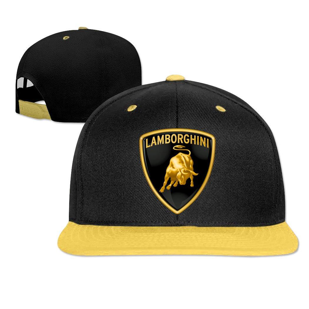 New Lamborghini Car Logo Emblem Hip-Hop Cap Adjustable Bang