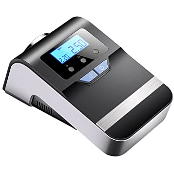YLG Mini Compresor De Aire Portátil, Bomba Inflador con Luz LED 12V, 100 PSI