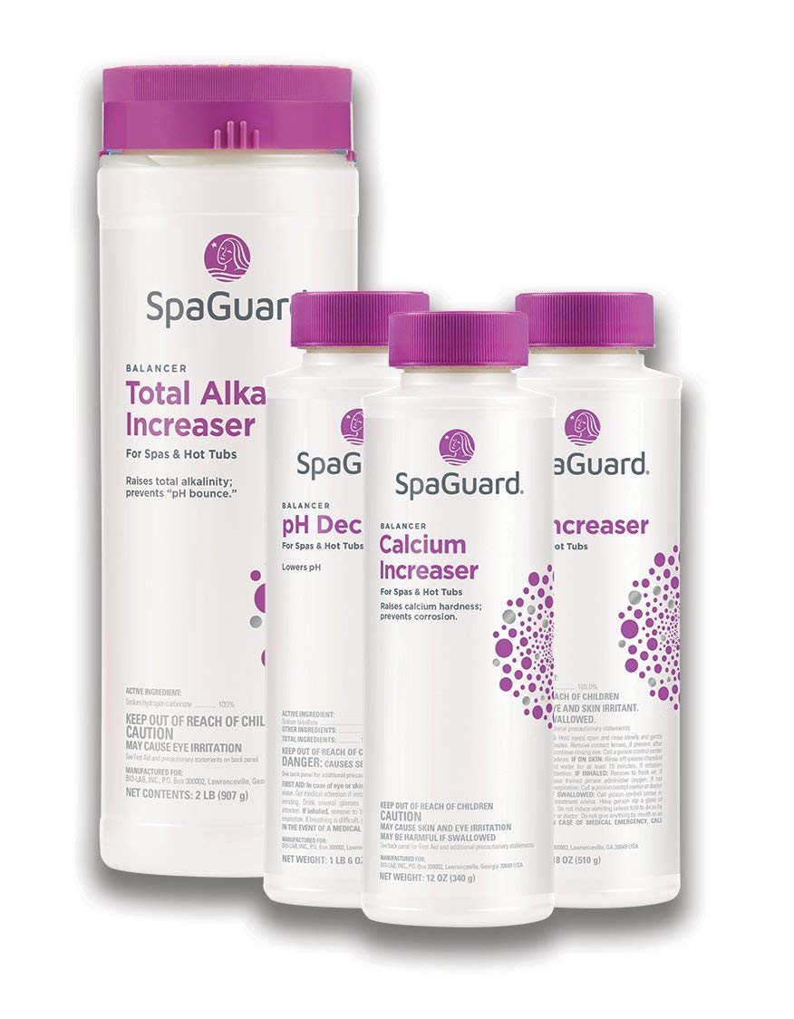 SpaGuard Balancer Bundle (pH Decreaser, pH Increaser, Alkalinity Increaser, Calcium Increaser) (1) by SpaGuard