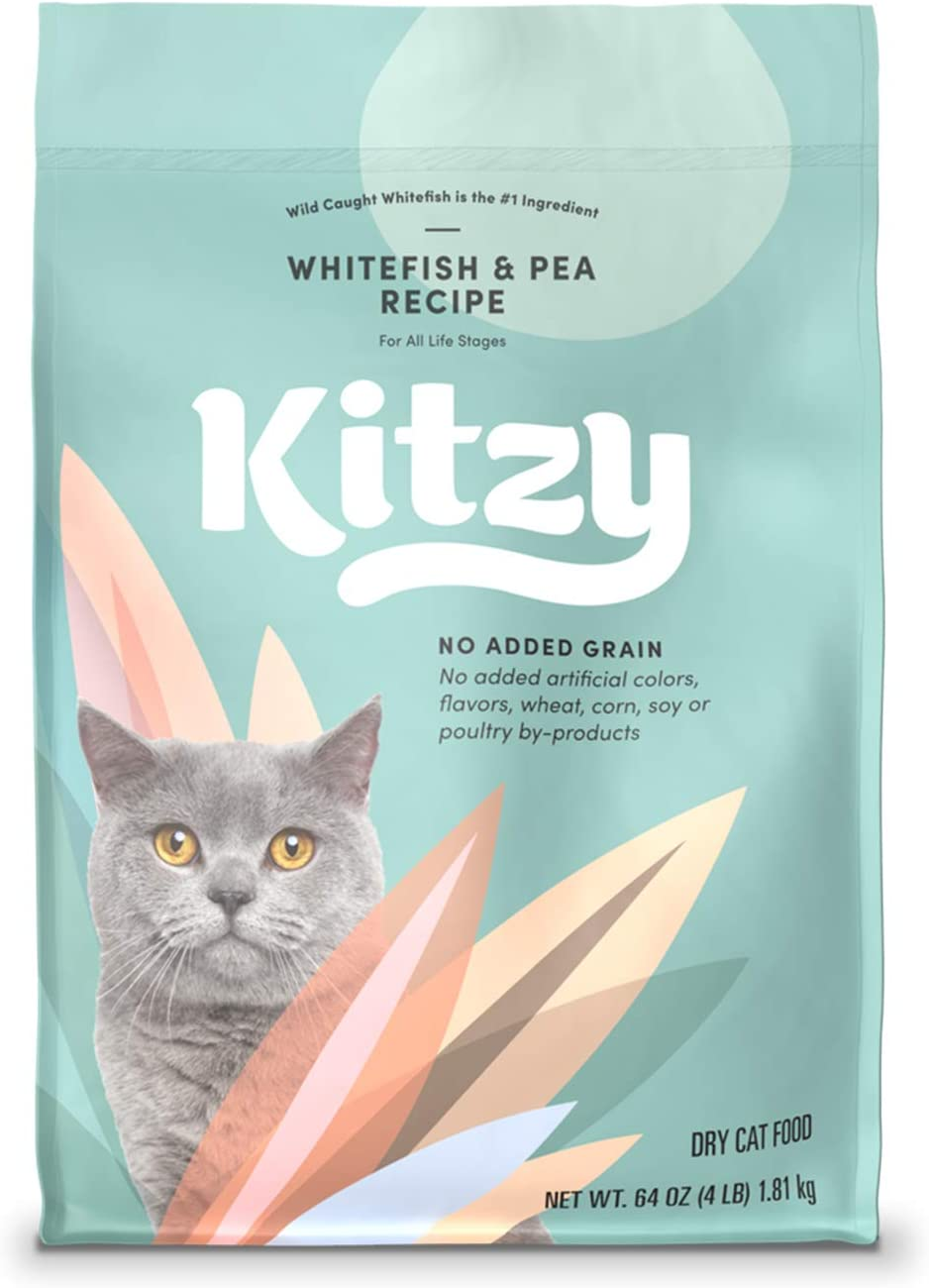 Kitzy Dry Cat Food by Amazon, Whitefish and Pea Recipe (4 lb bag)