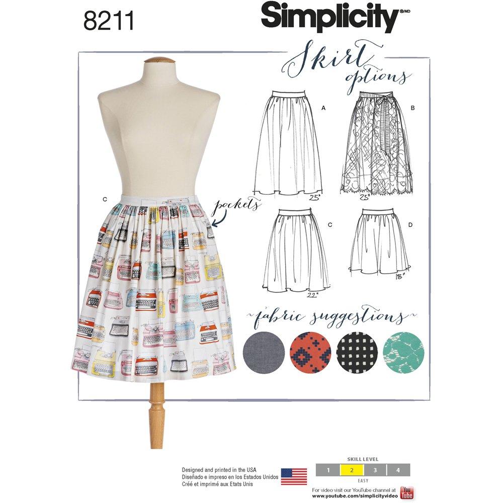 Simplicity Muster 8211 Schnittmuster Dirndl Röcke in drei Längen ...