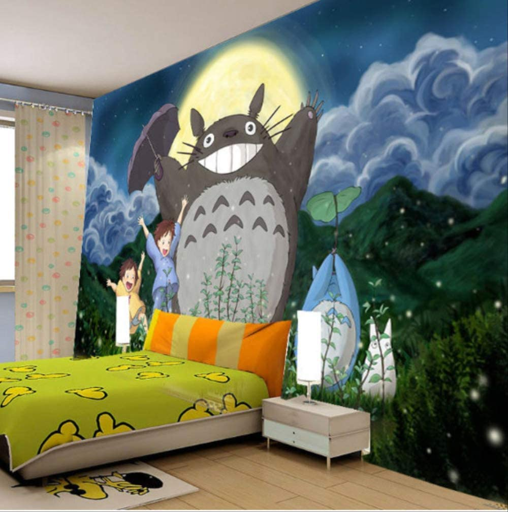 My Neighbor Totoro Wallpaper 3d Japanese Anime Photo Wallpaper Cartoon Mural Kids Boys Girls Room Decor Bedroom Wall Paper Art Width300cm Height210cm A Amazon Co Uk Diy Tools