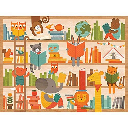 Petit Collage Floor Puzzle, Wild Reading, 24 Pieces