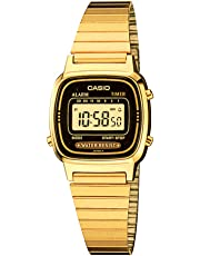 Reloj Casio Digital Unisex, pulsera de Acero Inoxidable