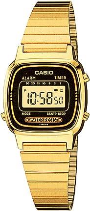 Casio Women's LA670WGA-1DF Daily Alarm Digital Gold-Tone Watch