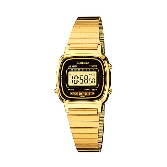 Amazon.com: Casio LA670WGA-1DF, reloj digital diario con ...