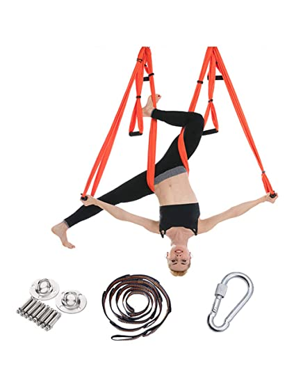 besbomig Pilates Hamaca Voladora Columpio de Yoga Hamaca ...