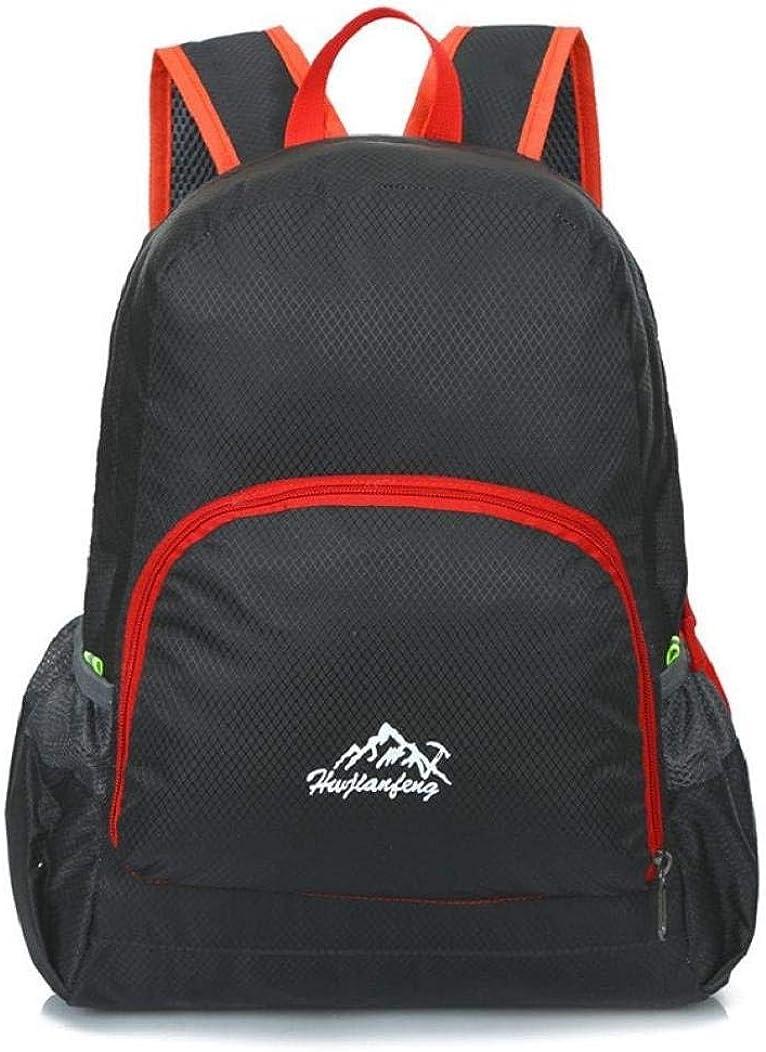 Black VIASA Outdoor Waterproof Bionic Camouflage Camo Pattern Folding Backpack Shoulder Bag