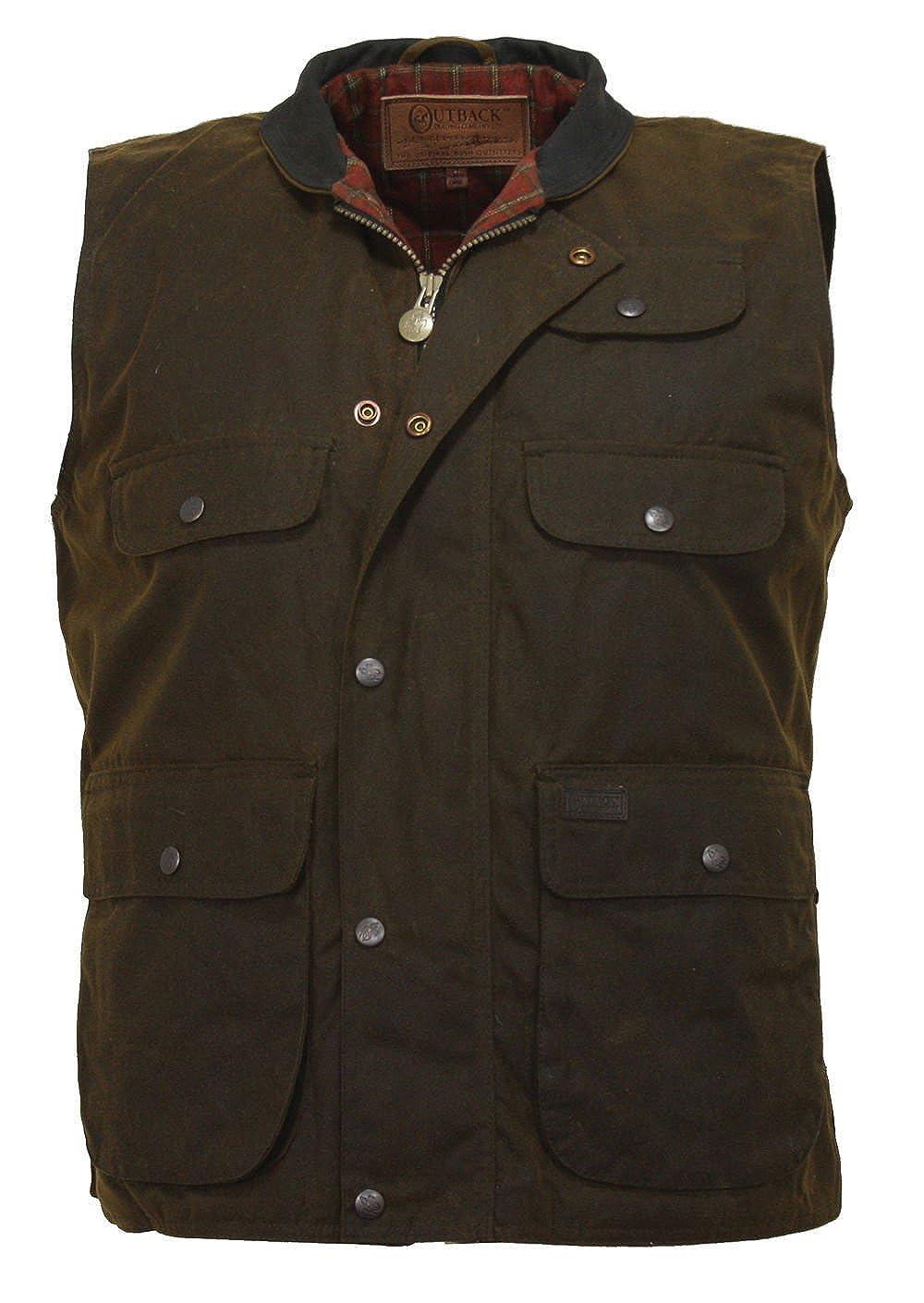 Outback Trading Overlander Waterproof Oilskin Vest, Bronze 080143