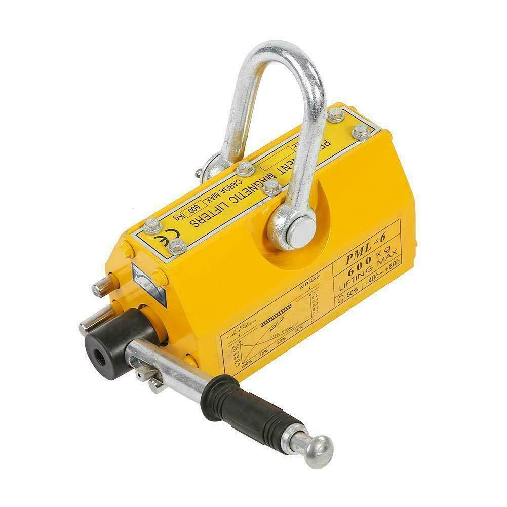 600KG 1320Lbs Heavy Duty Permanent Magnetic Lifter Lifting Hoist Crane Magnet US