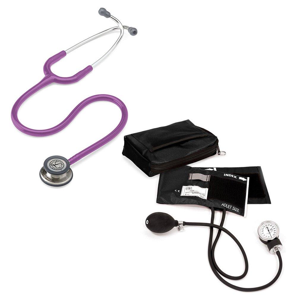 3M Littmann Classic Iii™ And Prestige Medical Adult Sphygmomanometer With Case Kit Lavender