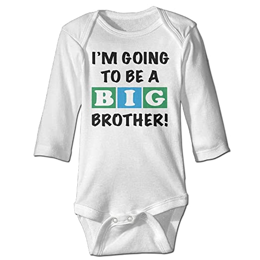 fd264acf72 Baby Boy Girls Im Going To Be A Big Brother Baby Onesies White Long Sleeve