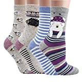 Women Casual Socks Animal Design Cartoon Socks Pack of 4 or 2