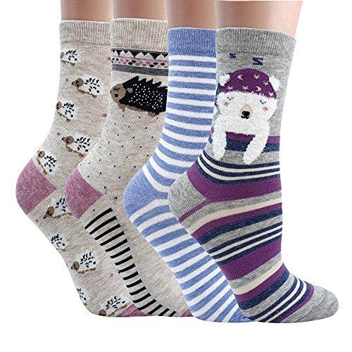 Women Casual Socks Animal Design Cartoon Socks Pack of