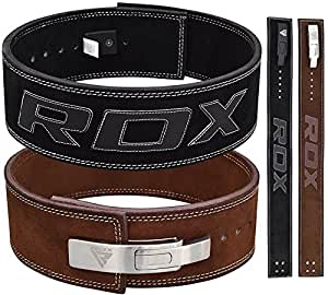 Amazon Com Rdx Powerlifting Belt Lever Buckle Cow Hide