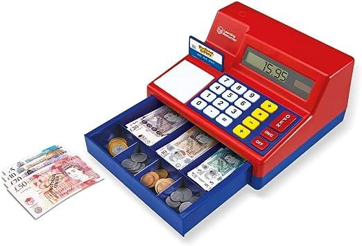 Learning Resources- Caja registradora calculadora con Dinero del Reino Unido de Juguete Pretend & Play, Color (LSP2629-UK): Amazon.es: Juguetes y juegos