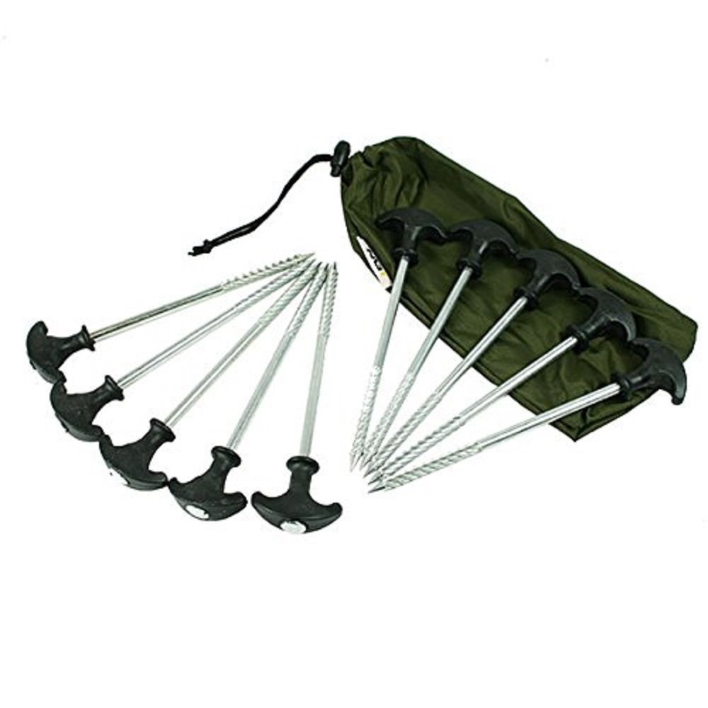 10 bivvy pegs in a case NGT BIVVY PEGS IN CASE