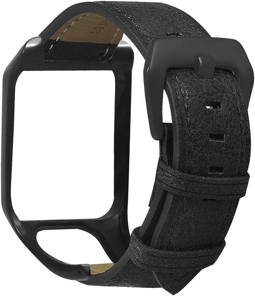 ZChun Correa de reloj de silicona ajustable correa de repuesto para TomTom Runner 2 3/Spark 3 Cardio/Música/Aventura/Golfer 2 accesorios de reloj
