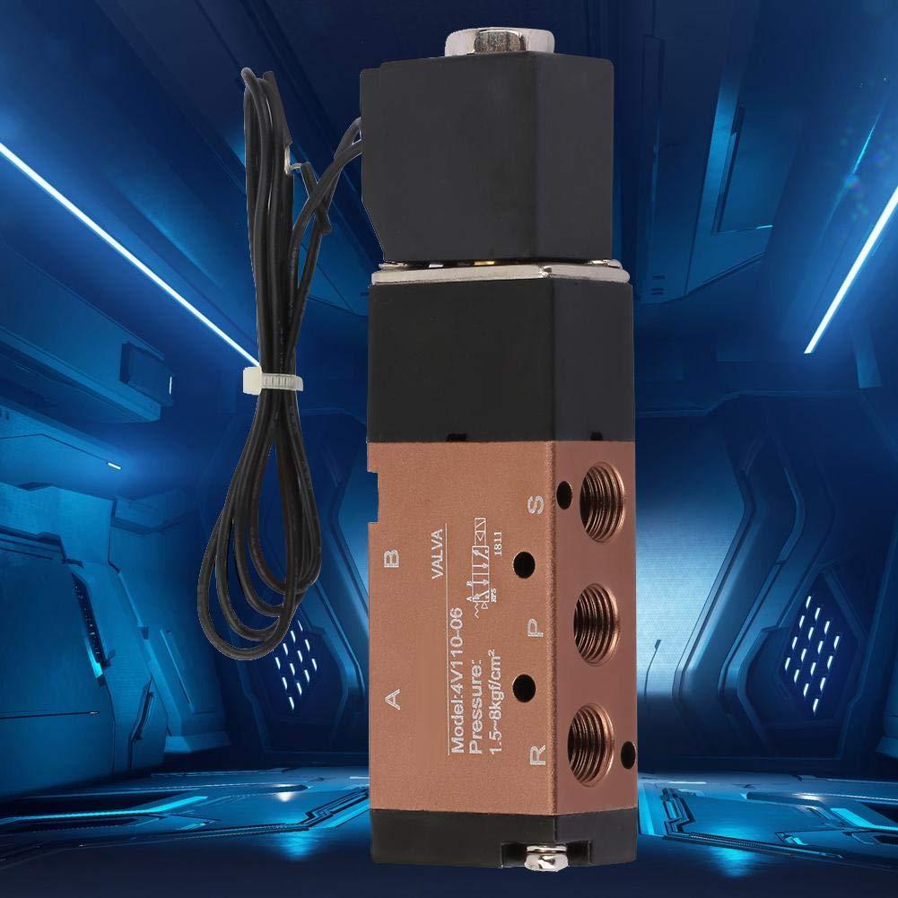 5-Wege-Ac110V 2 Positionen F/ür Elektrisch Betriebene Pneumatische Leistungsregelung Pneumatisches Magnetventil Dc12V AC110V Dc24V Pt1 // 8Magnetventil