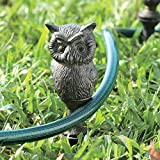 SPI Home Owl Hose Guard - Observant Aluminum Owl Helps Keep Flower Beds Safe