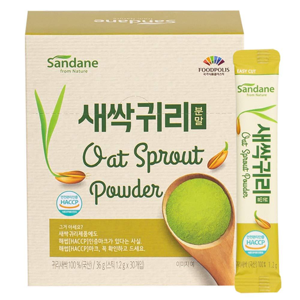 Sandane 100% Korean Superfood Healthy Nutrient Fiber Organic Oats Powder Sticks (1.2g 30 Sticks / 1 Box)