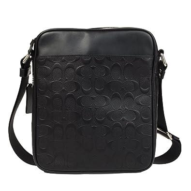 Amazon.com  Coach Flight Bag in Signature Crossgrain Leather NI Black  Shoes 1148062245de4