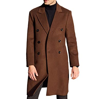 Symbol Of The Brand Winter New Male Long Thick Jacket Men Trench Coat Trend Cashmere Jackets Single-breasted Woolen Windbreaker Mens Lapel Overcoat Easy To Repair Wool & Blends