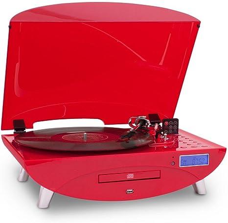 Tocadiscos disco MP3 USB CD Radio Tocadiscos Encoder Bigben td97r ...