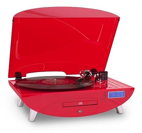 Tocadiscos disco MP3 USB CD Radio Tocadiscos Encoder Bigben ...