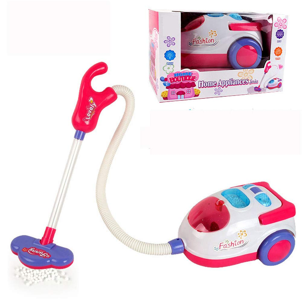 LXQ Children's Role-Playing Vacuum Cleaner Simulation of Small Household Appliances Toys Baby Teaching Aids Stroller Stroller Toy Household Cleaning