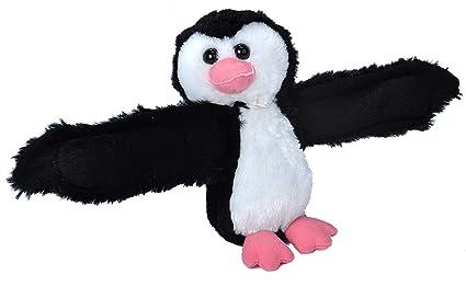 Amazon Com Wild Republic Huggers Penguin Plush Toy Slap Bracelet