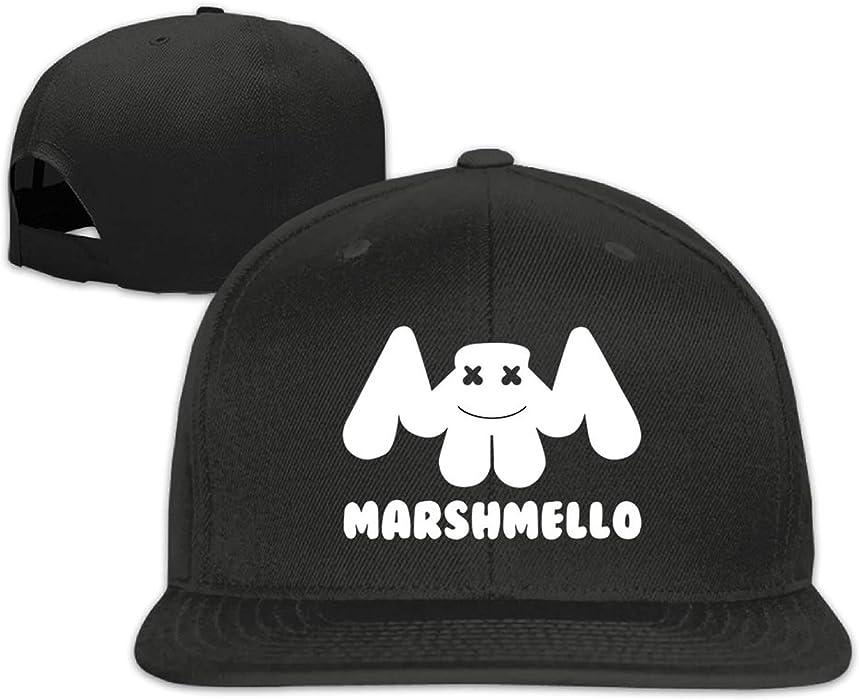 Cap Baseball Cap Side 3D Printing Marshmello Casual Cap Gorras Hip hop Snapback Hats wash Cap Unisex