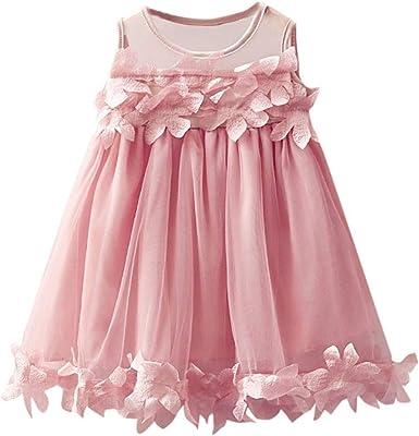 DAYLIN Vestido de Princesa, Bebé Niñas Primavera Verano Sin Mangas ...
