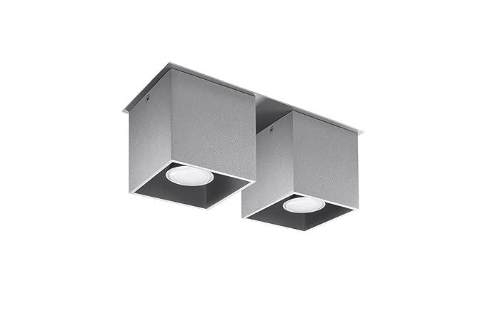 Bauhaus - Lámpara de techo (b10 cm, L26 cm, de 2 flmg ...