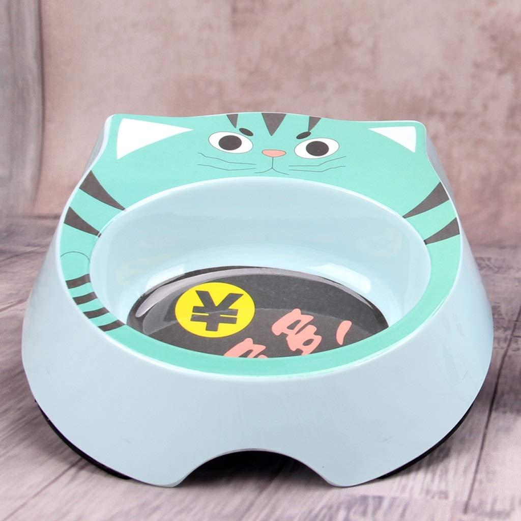 KTYX Cute Pet Bowl Dog Bowl Cat Food Bowl Green 18.5x15x5cm Pet Bowl