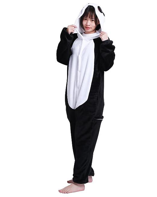 iiniim Mujer Hombre Franela Pijama de Invierno Ropa de Dormir de una Pieza Adulto Unisexo de