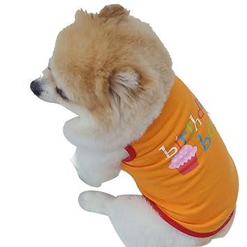 Amazon Mai Yi Dog Birthday Shirt Pet Summer Vest For