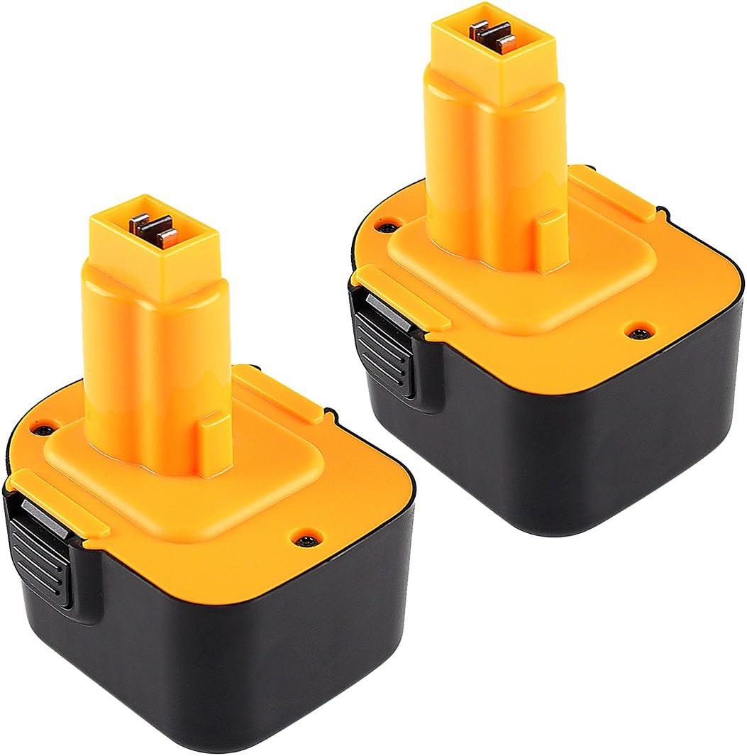 2X Reoben 12V 3.0Ah NIMH batería de herramienta para Dewalt DE9074 DE9037 DE9075 DE9071 DE9501 DE9072 DW9071 DW9072