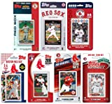 MLB Boston Red Sox 7 Different Licensed Trading Card Team Sets