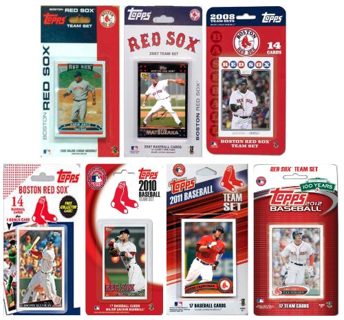 Sox Team Design (MLB Boston Red Sox 7 Different Licensed Trading Card Team Sets)