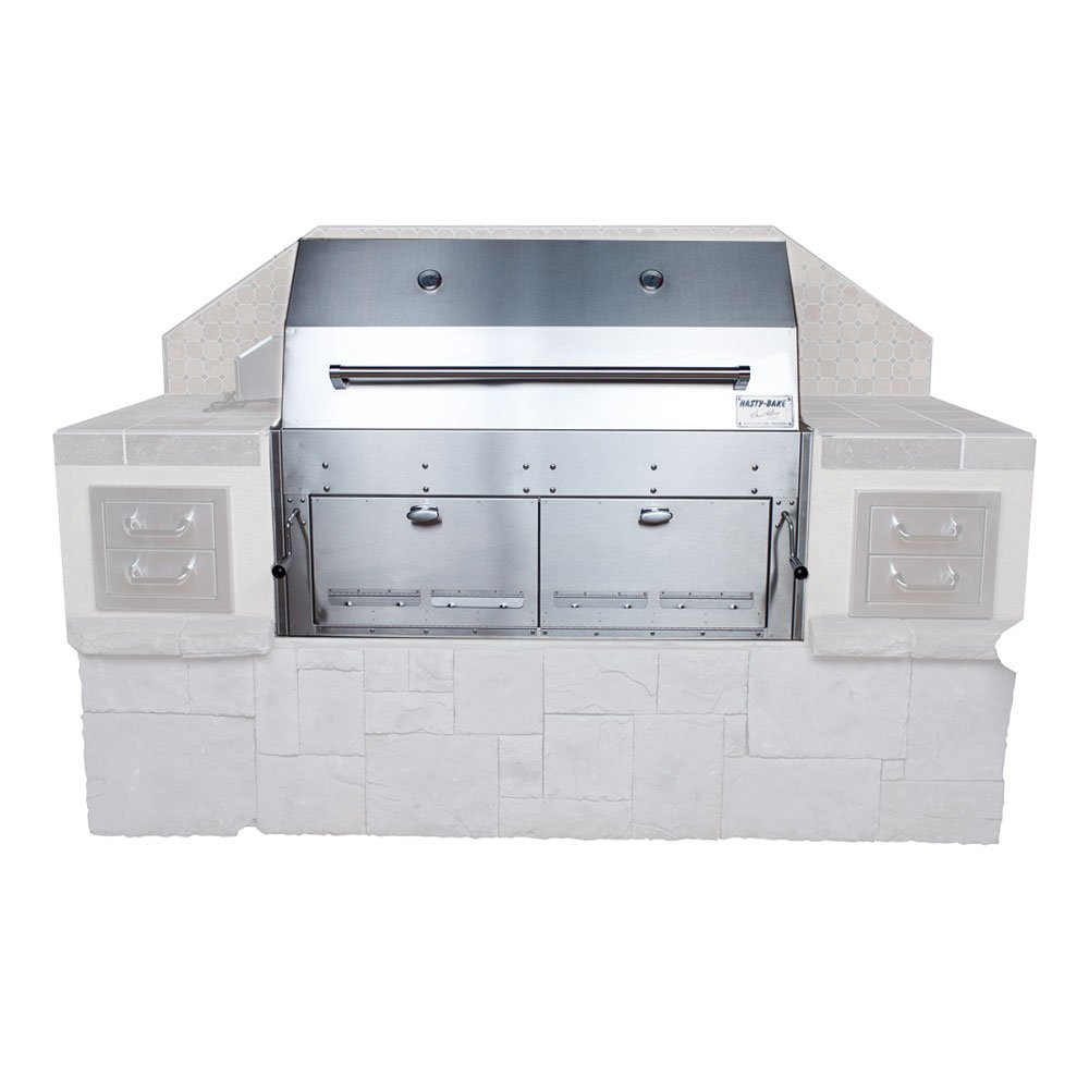 Hasty-Bake 290 Hastings Stainless Steel Built in Charcoal Grill