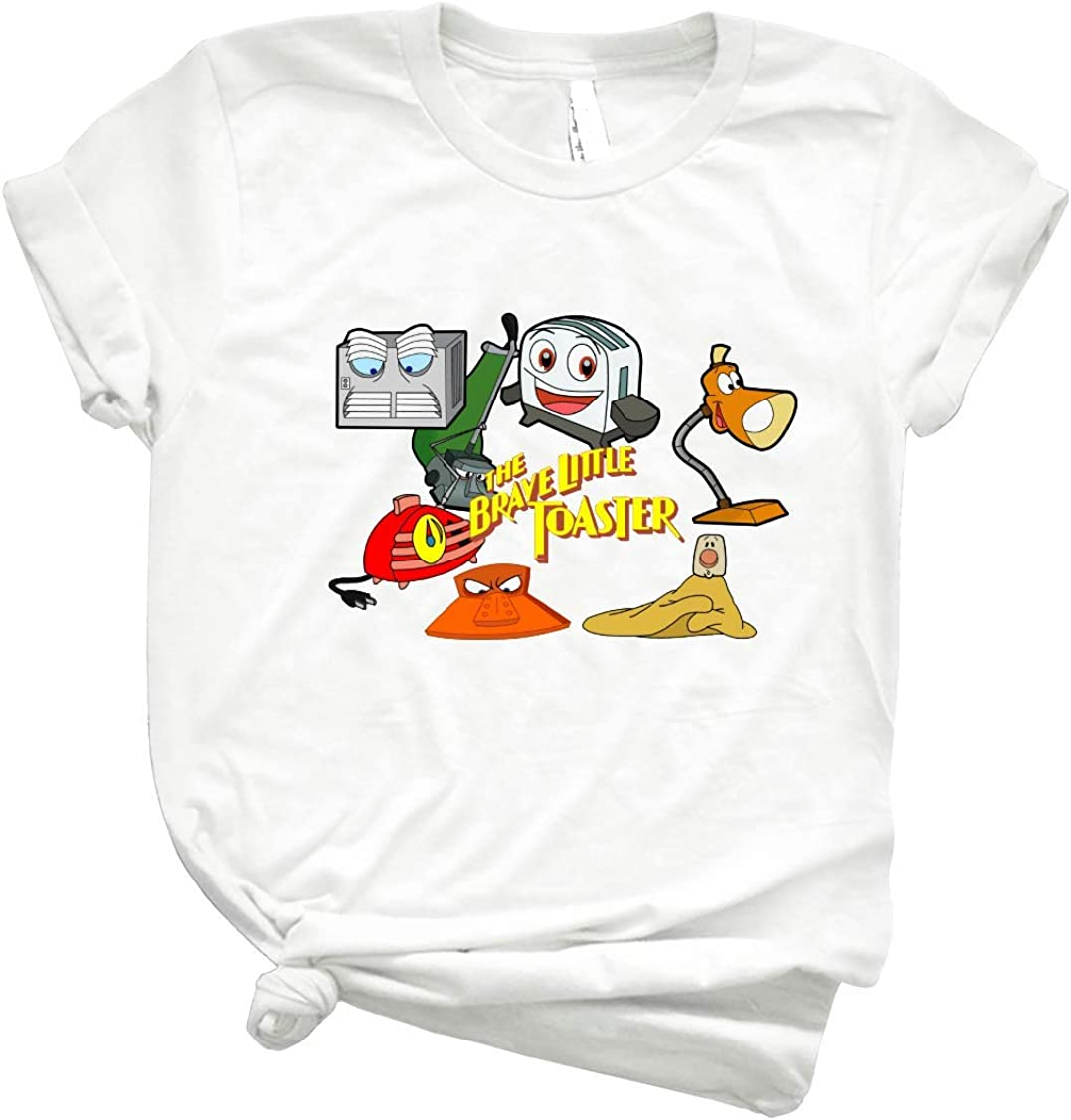 Brave Little Toaster Crew Men Graphic Tee Vintage Retro Style Shirt for Women – Customize Women Best T
