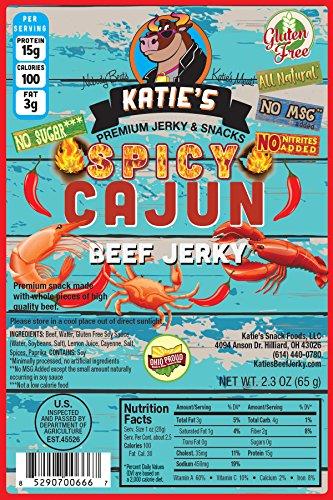 Sugar Free Cajun Beef Jerky - Spicy - Gluten Free - Sugar Free - All - Jerky Cajun Beef